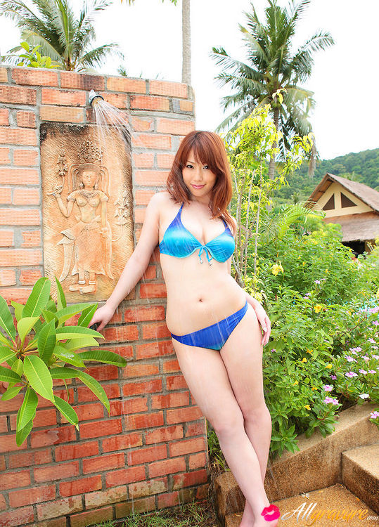 Young japanese girl naked in pool #2