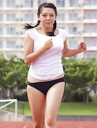 Ai Shinozaki Asian with big melons loves all kind of sports